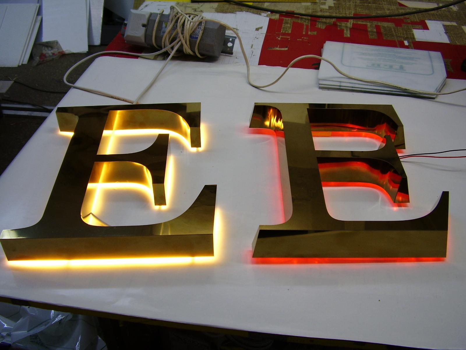 Объёмные буквы с подсветкой своими руками